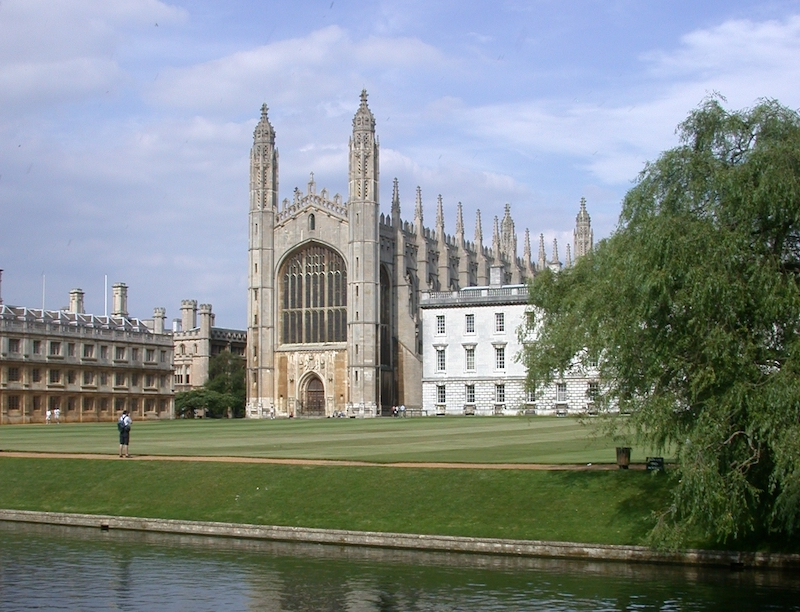 Kings College Cambridge seen from The Backs